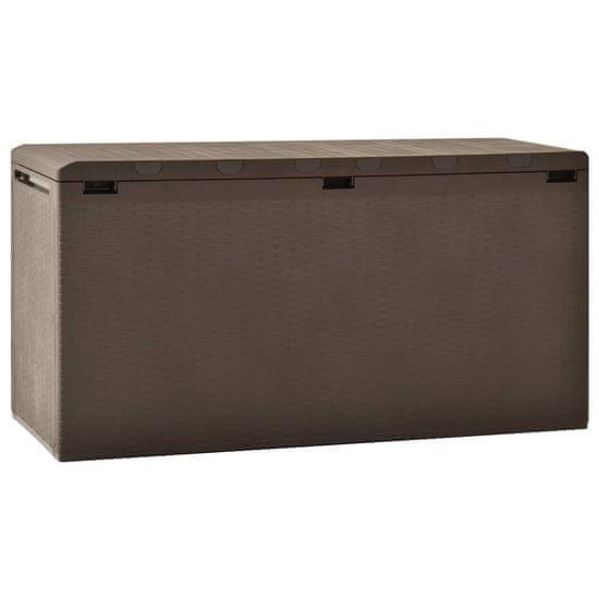 Záhradný úložný box hnedý 114x47x60 cm