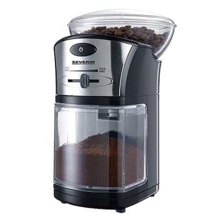 SEVERIN Kávédaráló, kb. 100 W, állítható csiszolási szint, st, Kávédaráló, kb. 100 W, állítható csiszolási szint, st