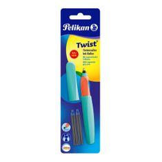 Pelikan Twist roler nalivno pero, turkizno zeleno + 2 črnilna vložka