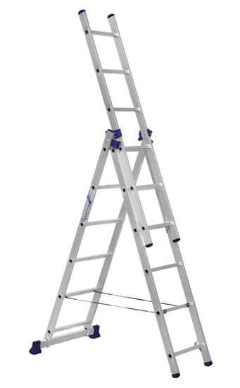 ALUMET Univerzálny trojdielny rebrík 3 × 6 (H3 5306)