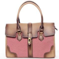 Maria C. Luxusní látková kabelka Zoe, červená