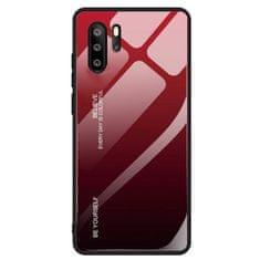 MG Gradient Glass műanyag tok Huawei P30 Pro, fekete-piros