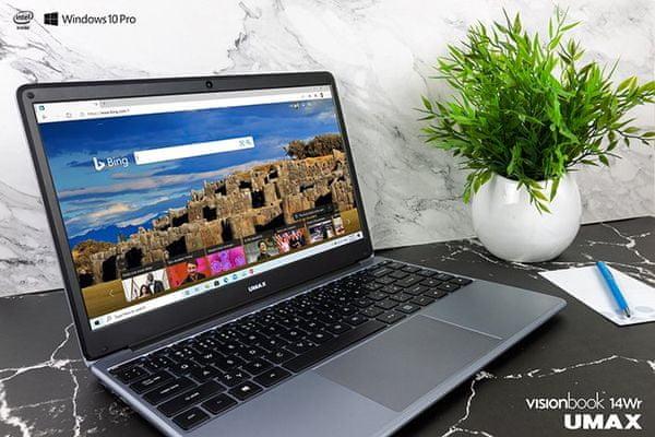 Notebook Umax VisionBook 14Wr (UMM230141) 15,6 palca Intel 10. generácie USB-C výkonný
