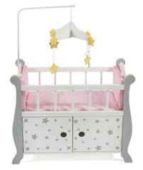 Bayer Chic dječji krevet s prostorom za odlaganje, sa zvijezdama, siva