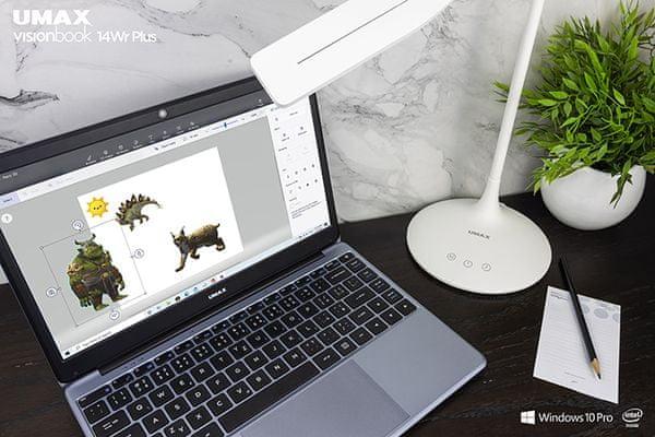 Umax VisionBook 14Wr Plus (UMM230142) 15,6 palce lehký kompaktní tenký rámeček displeje NanoEdge