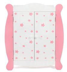 Bayer Chic Ruhásszekrény a babáknak, rózsaszín csillaggal