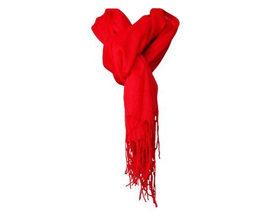 ORSI Dámská šála pašmína 68x180 červená