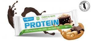 MaxSport Maxsport Protein Bar 60g proteinová tyčinka čokoláda s oříšky