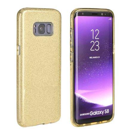 FORCELL Shining silikonski ovitek za Samsung Galaxy S10, zlato