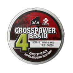 D.A.M Crosspower 4-Braid 0.20Mm / 9.9Kg/22Lb /150M - Green