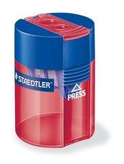Staedtler Ořezávátko, na 2 tužky, se zásobníkem na odpad, různé barvy
