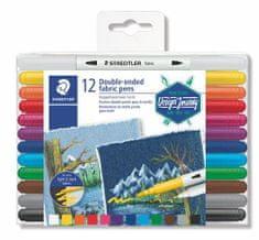 "Staedtler Fix na textil ""Design Journey"", 12 různých barev, oboustranné"