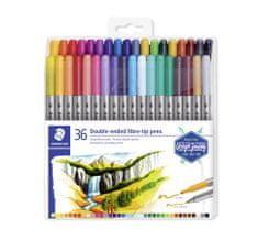 """Staedtler Fixy """"Design Journey"""", sada 36 různých barev, 0,8/3,0 mm, oboustranné"""