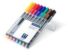 """Staedtler Permanentní popisovače """"Lumocolor 317 M"""", sada 8 barev, 0,8-1 mm"""