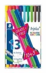 """Staedtler Liner """"Triplus 334 Box"""" set 10+3, různé barvy, 0,3mm"""
