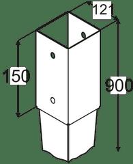 DOMAX Kotviaca pätka PSG 120/900