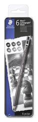 "Staedtler Grafitové tužky ""Mars Lumograph"", sada, 6 tvrdostí, šestihranná, umělecká"