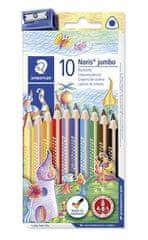 "Staedtler Barevné pastelky ""Noris Club Jumbo"", 10 barev, sada, trojhranné"