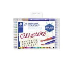 "Staedtler Sada kaligrafických popisovačů ""Calligraph Duo"", 24 barev, 2,0/3,5 mm, oboustranné"