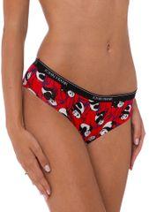 John Frank H15 hipster kalhotky červené s pandou Barva: červená, Velikost oblečení: S
