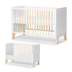 KinderKraft Baby wooden cot NICO guardrail + mattress