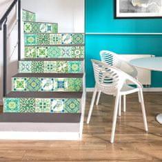 Walplus Samolepky na stenu Turecká mozaika zelená