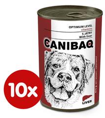 Dibaq hrana za pse CANIBAQ Classic jetrica, 10x415 g