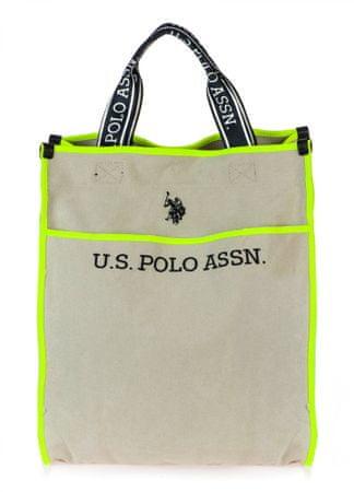 U.S. POLO ASSN. Halifax M Shoppping Bag bézs kézitáska