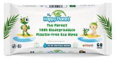 Aquaint Happy Planet 100% BIO odbouratelné vlhčené ubrousky 60 ks
