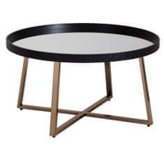 Bruxxi Konferenčný stolík Jerry, 78 cm, čierna/zlatá