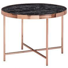 Bruxxi Odkladací stolík Kirst, 60 cm, čierny mramor
