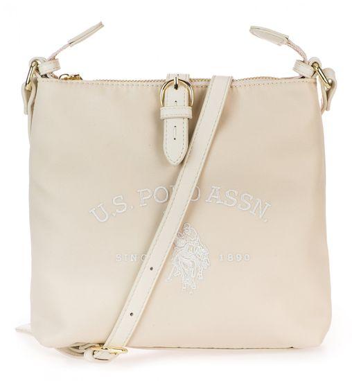 U.S. Polo Assn. smetanová crossbody kabelka Patterson Crossbody Bag
