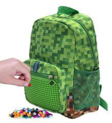Pixie Crew Kreatív Minecraft gyermek hátizsák, zöld-barna