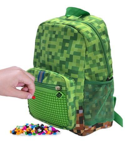 Pixie Crew ustvarjalni otroški nahrbtnik Minecraft, zeleno-rjav