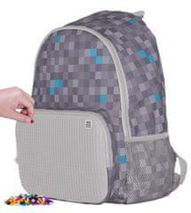 Pixie Crew kreativni ruksak za slobodno vrijeme Minecraft, sivo-plavi