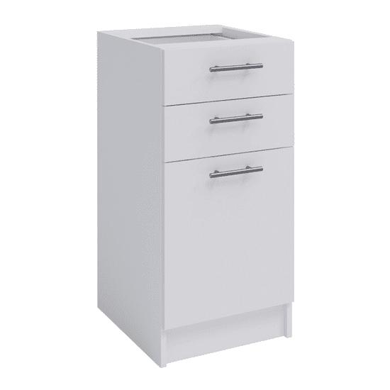 TEMPO KONDELA Spodná kombinovaná skrinka, biela, FABIANA S-40SZ2