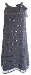 Cache cache Šaty s flitrovanými pásky CACHE CACHE Barva: Černá, Velikost: 38