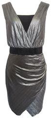 Bréal Stříbrnočerné šaty Patricie Bréal Barva: Stříbrná, Velikost: 42