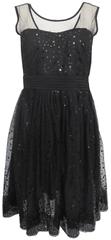 Bréal Tylové šaty s flitry Patricie Bréal Barva: Černá, Velikost: 40