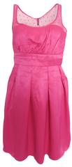 NAFNAF Růžové šaty s puntíky Naf Naf Růžová XL