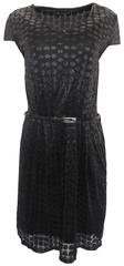 Bréal Černé šaty s opaskem Patricie Bréal Barva: Černá, Velikost: 38