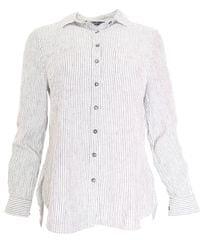 New Look Pruhovaná košile New Look Bílá S, Rukáv: Dlouhý