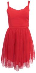 NAFNAF Červené tylové šaty NAF NAF Červená 40