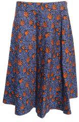 Etam Modrá sukně s oranžovými kvítky Etam Modrá 38