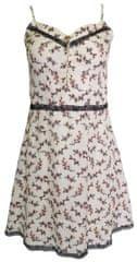 NAFNAF Krémové vzorované šaty s černou krajkou NAF NAF Velikost: XXL