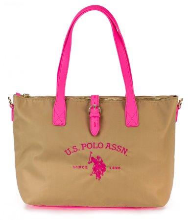 U.S. Polo Assn. Patt.Fluo M Shopping torbica, bež