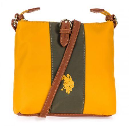 U.S. Polo Assn. Patt.Col.Block Sq. torbica, žuta