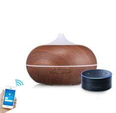 """GOLDSUN Aroma Smart Wifi diffúzor """"Easy Home 300ml"""" légfrissítő és párásító - Sötét fa"""