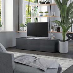 shumee TV skrinka, sivá 120x34x30 cm, drevotrieska