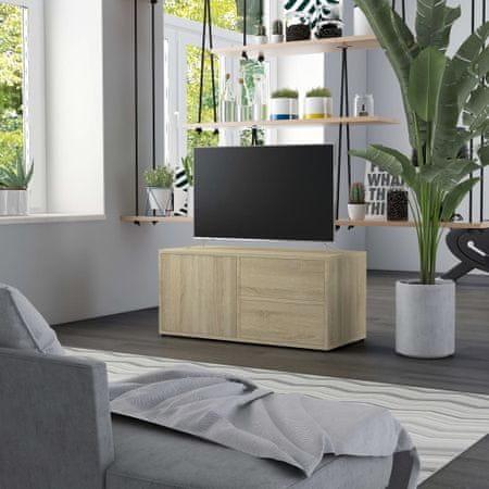 shumee Szafka pod TV, dąb sonoma, 80x34x36 cm, płyta wiórowa
